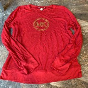 Michael Kors Red Thermal Gold Bling Monogram XL